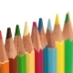 Color Pencils a White Background