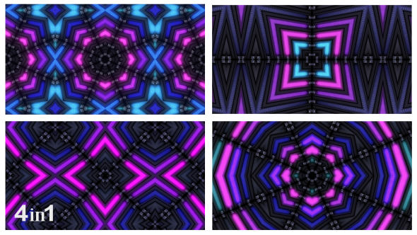 VideoHive Flashing Colorful Lights Abstraction 4-Pack 15818209