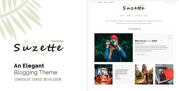 Suzette - An Elegant Blogging Theme - Just another HTML Template