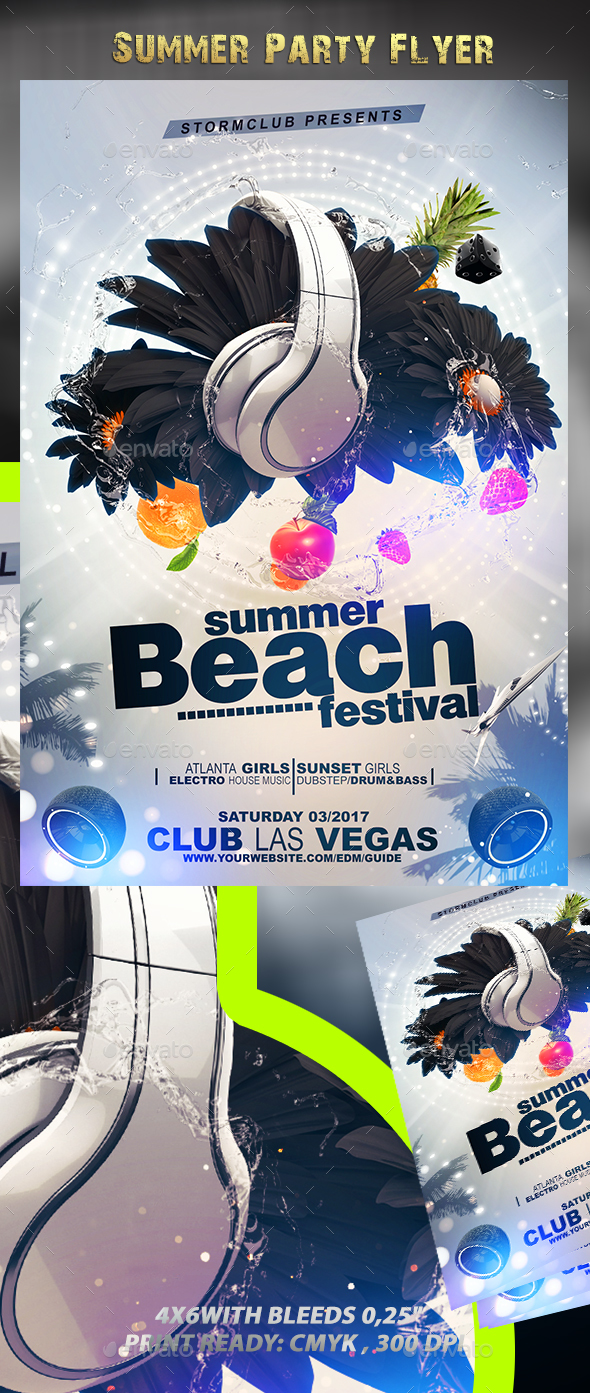 Summer Party Flyer V4