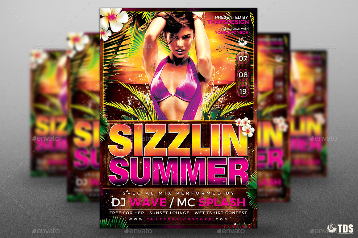 Beach Party Flyer Template V7 by lou606 – Beach Party Flyer Template
