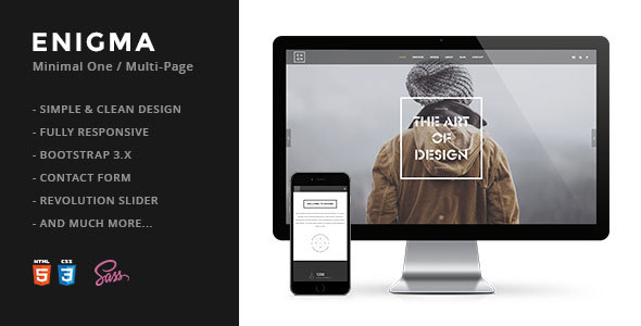 5. Enigma | Creative Responsive Minimal HTML Template