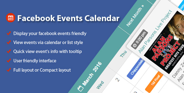 Download Facebook Events Calendar For WordPress nulled download