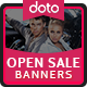 Opening Sale Banners