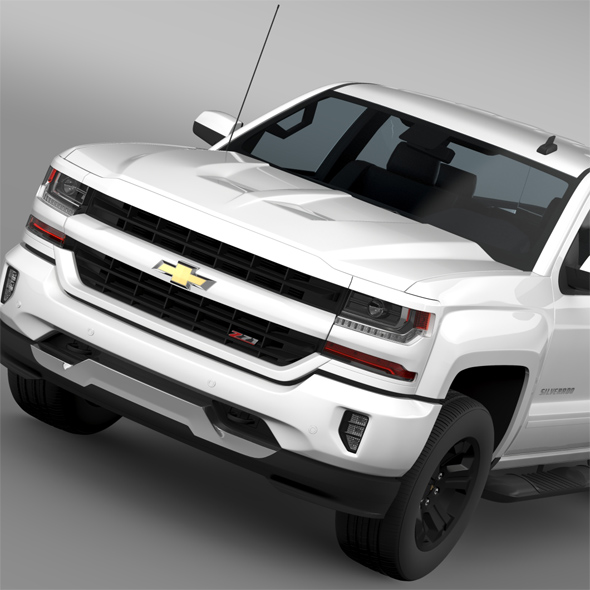Chevrolet Silverado LT Z71 Double Cab GMTK2 Standart Box 2016 - 3DOcean Item for Sale