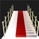3D Vip Stairs With Golden Poles