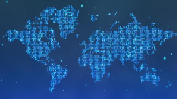 Digital world map by rightbox videohive - Digital world hd ...