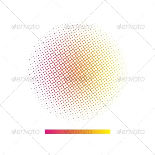 Gradient halftone vector background - Backgrounds Decorative
