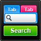 Search boxes with tabs - GraphicRiver Item for Sale