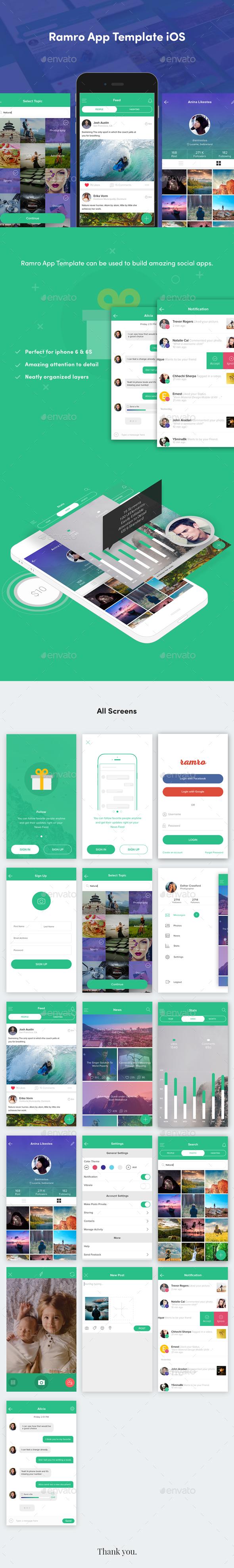 Ramro App Template iOS (User Interfaces)