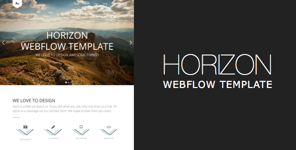 Image of Horizon One Page and Multipage Webflow Template