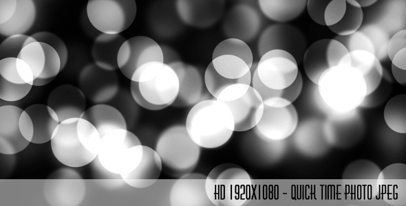 VideoHive Black and White Bokeh 1584851
