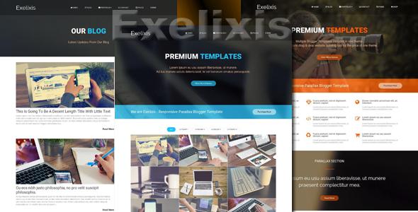 Exelixis - Responsive Blogger Template