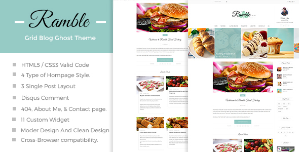 Ramble-Grid - A Responsive Ghost Blog Theme