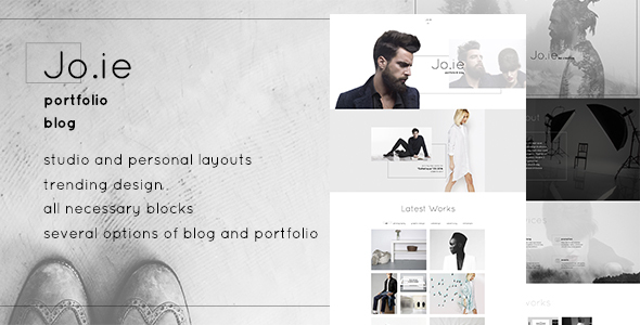 Jo.ie — Personal/Studio Multipurpose Portfolio and Blog PSD Theme