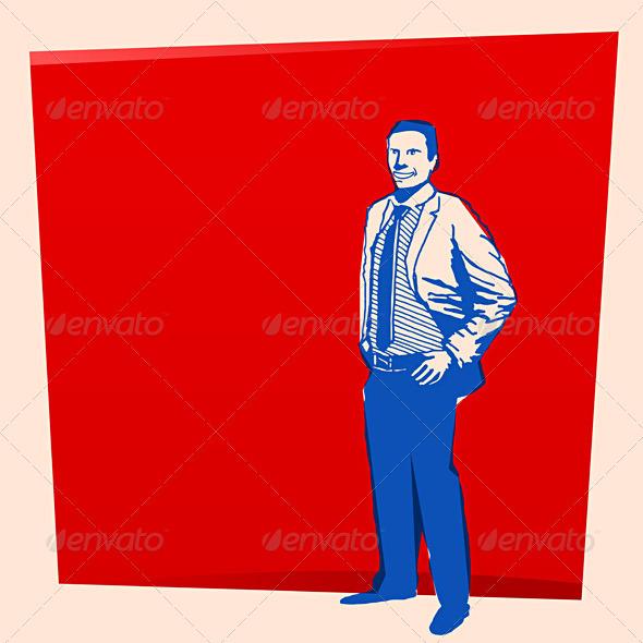 GraphicRiver Vintage Business Man 1585500