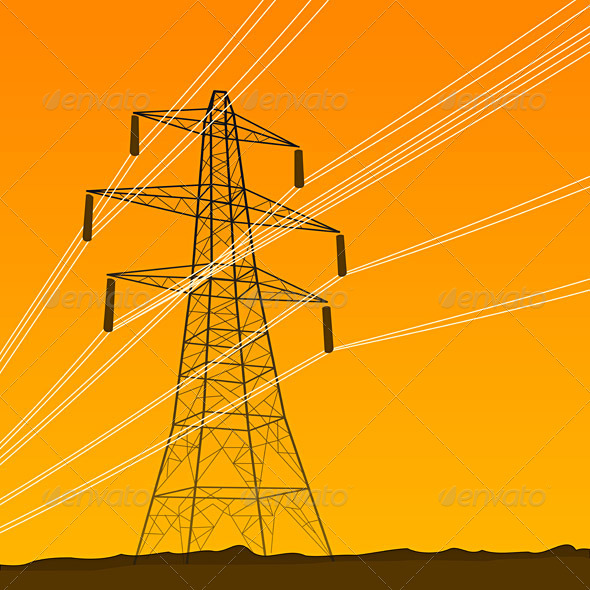 GraphicRiver Electrical Tower 1585524