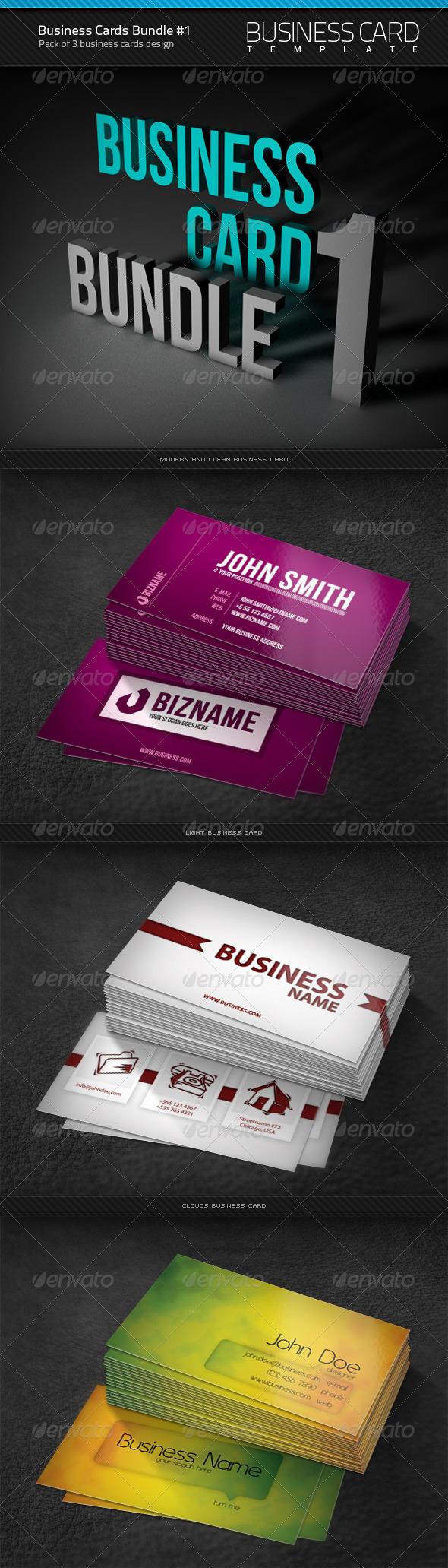 Business Cards Bundle #1 - Corporate Business Cards
