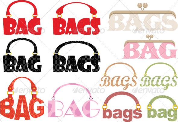 GraphicRiver Word of bag in the form of a logotype 1585665