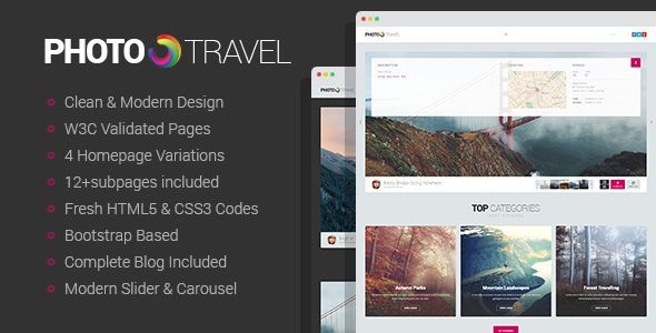 PhotoTravel - Premium Photo HTML5 Template