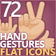 72 Human Hand Gesture Icons