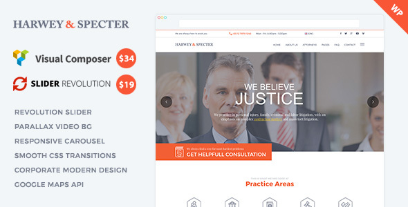 Harvey & Specter | Law Firm WP Theme