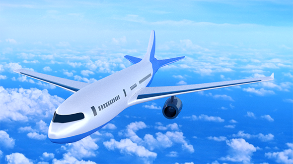 Textured Commercial Airplane  - 3DOcean Item for Sale