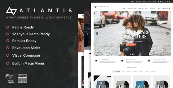 Download Atlantis - Multi Layout e-Commerce WordPress Theme nulled download