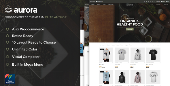 Download Aurora - 9 Layout Ajax Woocommerce Theme nulled download