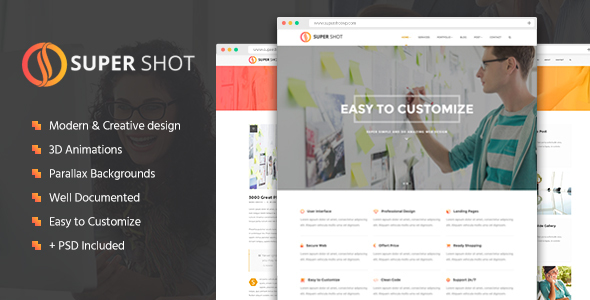 SuperShot - Creative Agency Landing Page