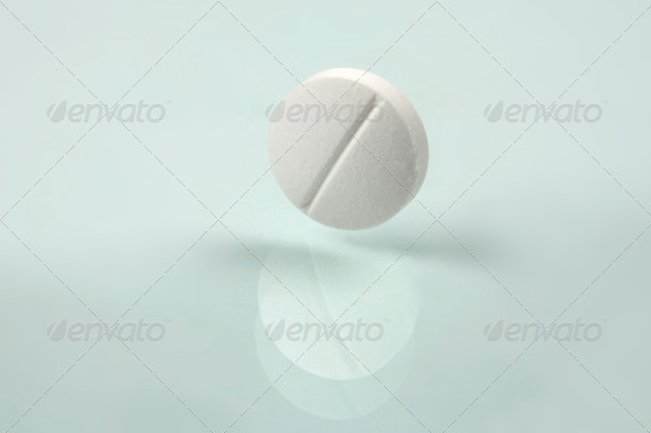 white pill - Stock Photo - Images