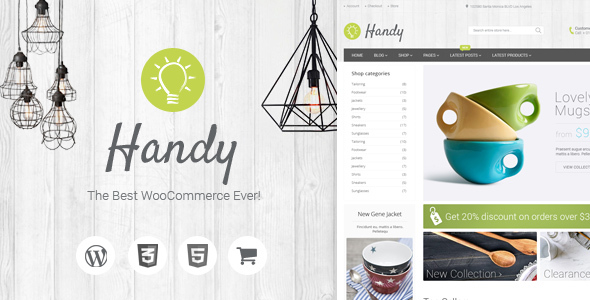 2 - Handy - Handmade Shop WordPress WooCommerce Theme