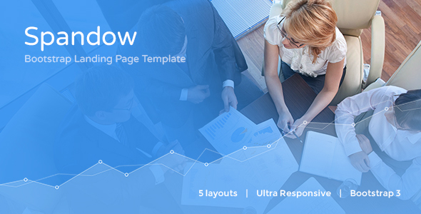 Image of Spandow - Responsive Bootstrap Landing Page Template