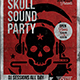 Skull Sound Flyer Template