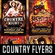 Country and Rodeo Flyer Template Bundle