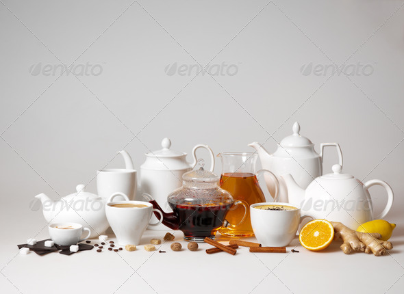 tea and coffee cups - Stock Photo - Images
