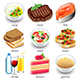 Food Types Icons Vector Set