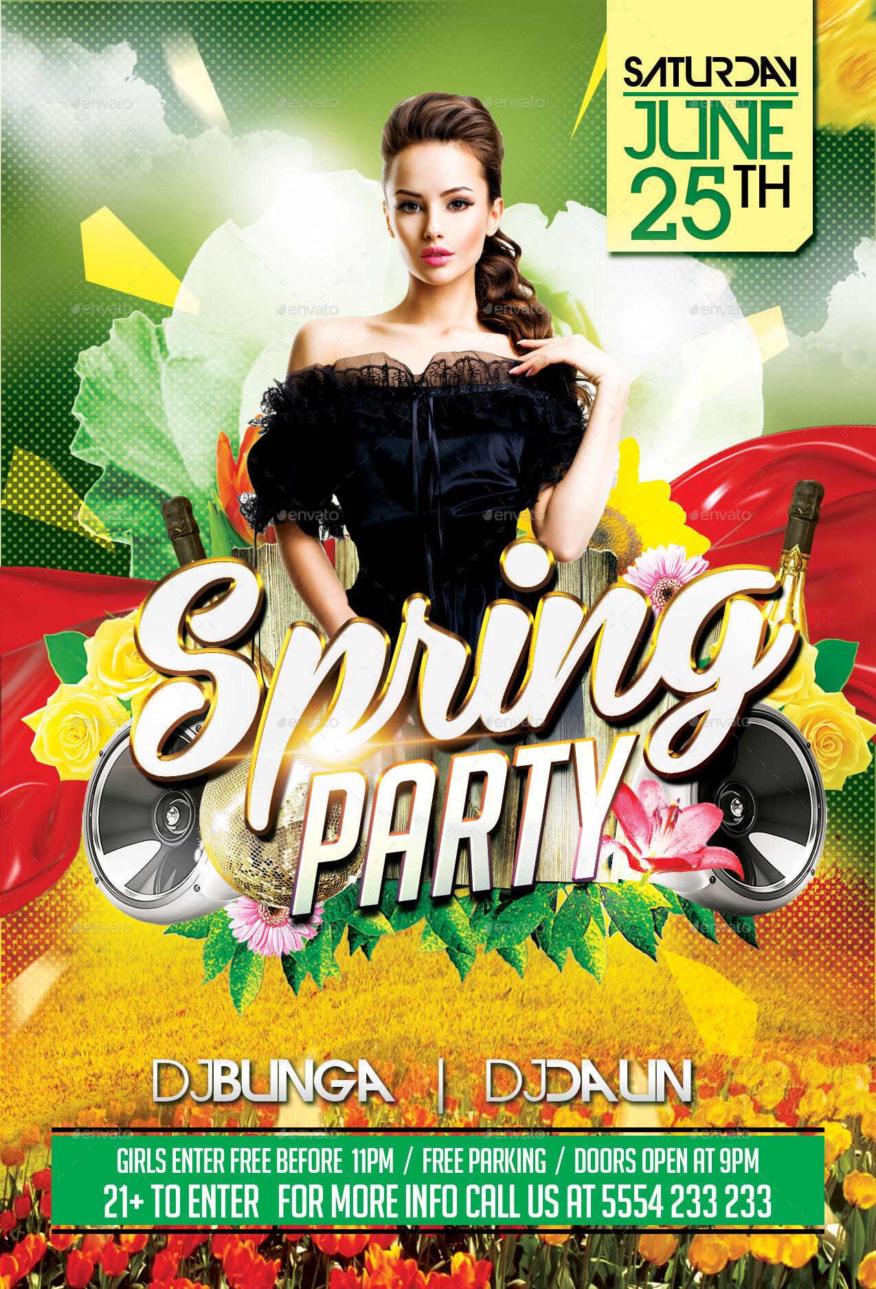 Spring Party by EyestetixStudio – Spring Party Flyer