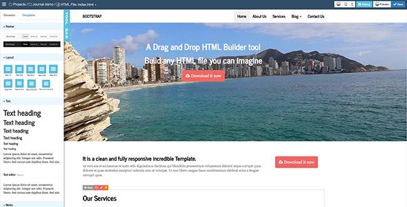 Bootstrap HTML Builder V1.6