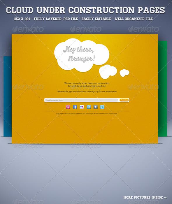 Cloud Under Construction Page - Miscellaneous Web Elements