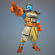 Low Poly Temple Fighter 3D Character