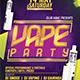 Vape Party Flyer Template
