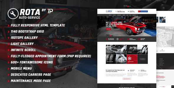Rota Auto Service - Mechanic Workshop HTML5 Template