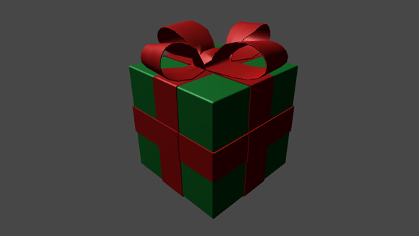 Simple Christmas Present Box - 3DOcean Item for Sale