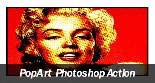 Pop Art Comic Book Photoshop Action