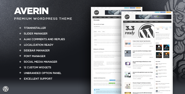ThemeForest Averin Premium Magazine Theme 388778