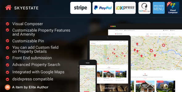 Download Skyestate - Real Estate with Front end Submission WordPress Theme nulled download