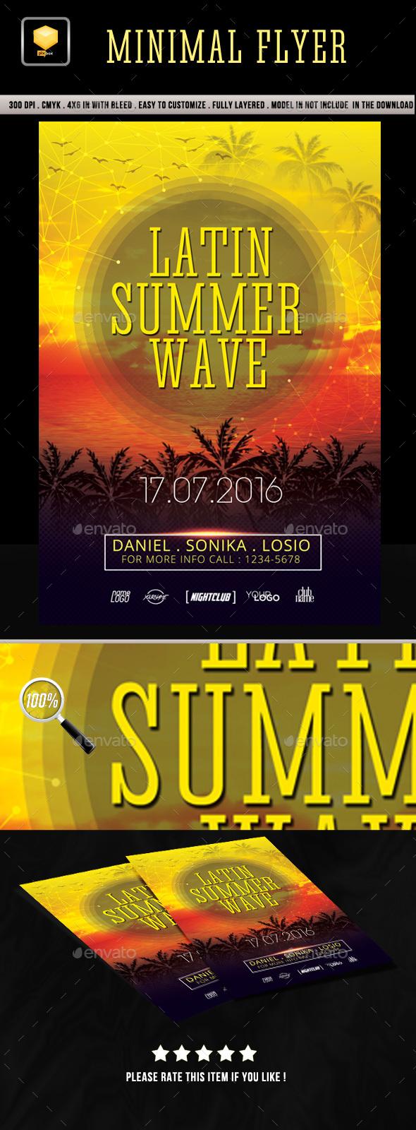 Latin Summer Wave Flyer