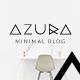 Azura | Clean & Minimal Blog PSD