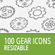 100-gear-icons